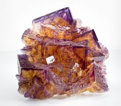 Gold and Purple Fluorite ~ Hardin County, Illinois