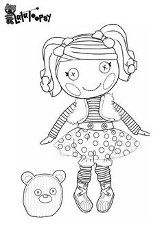 lalaloopsy coloring pages bratz coloring pages - Lalaloopsy Coloring Pages