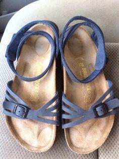 Rare women's Birkenstock Palma blue Birkibuc high ankle sandals 8R/39 EUC #Birkenstock #AnkleStrap