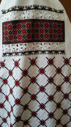 Ukraine, from Iryna Palestinian Embroidery, Hungarian Embroidery, Folk Embroidery, Hand Embroidery Designs, Embroidery Patterns, Cross Stitch Geometric, Cross Stitch Patterns, Party Wear Indian Dresses, Le Point
