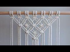 DIY Macrame Tutorial - Starting Your Work! Overlapping Square Knot Pattern - DIY Macrame Tutorial – Starting Your Work! Macrame Design, Macrame Art, Macrame Projects, Macrame Knots, Micro Macrame, Macrame Modern, Macrame Wall Hanging Patterns, Macrame Plant Hangers, Macrame Patterns