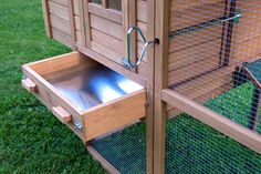 """(love the door opening handle thingie)  """"The Foursquare"""" Coop with Run (Ships Free!) from My Pet Chicken"""