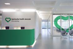 Branding for A. Sudół - Janczak dentist on Behance Clinic Interior Design, Interior Design Portfolios, Clinic Design, Dental Office Design, Medical Design, Healthcare Design, Wayfinding Signage, Signage Design, Hospital Signage