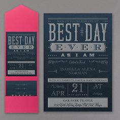 Best Day Ever Wedding Pocket Invitation - Navy Shimmer http://partyblock.carlsoncraft.com/Parties--Celebrations/Bar--Bat-Mitzvah-Invitations/3125-BA32674PINS-Best-Day-Ever--Pocket-Invitation--Navy-Shimmer.pro