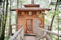 Treehouse Micro Cabin with Wrap Around Balcony   Tiny House Pins