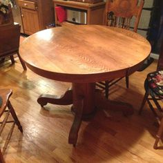 Antique Quarter Sawn Tiger Oak Library Table With Leaf