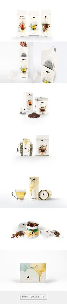 SALWAN Tea on Behance. Cool Packaging, Beverage Packaging, Design Packaging, Coffee Packaging, Packaging Design Inspiration, Brand Packaging, Brand Design, Web Design, Graphic Design