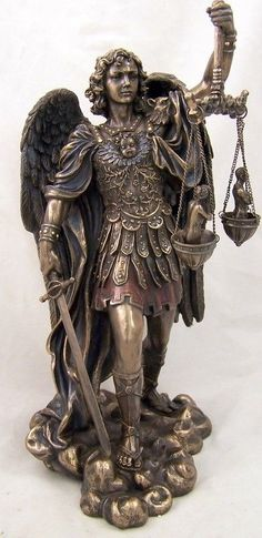 Huge Bronze Saint St. Michael Statue Scales Of Justice For Customer