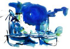 70x50 cm ©2014 por  Jordi Serrat Jurado Painting, Shopping, Impressionism, Artworks, Artists, Painting Art, Paintings, Painted Canvas, Drawings