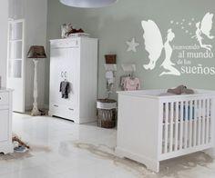 Vinilos decorativos de hadas y texto 115x80 cms Blanco: Amazon.es: Bebé