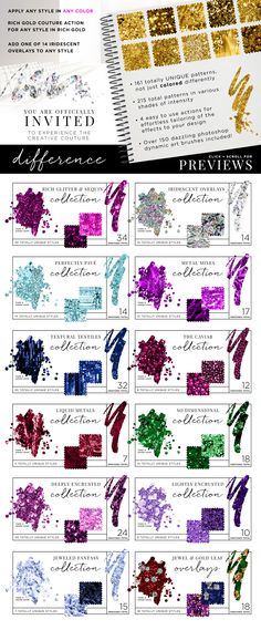 Check out #Photoshop: Creative Couture System by Jessica Johnson on Creative Market http://crtv.mk/rqxZ #glitter #glam #design #printables #sparkle #shine