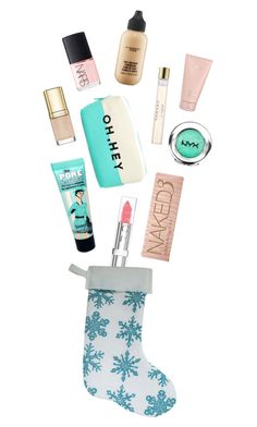"""""""Stocking Stuffers"""" by randomfashioncollections ❤ liked on Polyvore featuring beauty, Urban Decay, Christian Dior, Dolce&Gabbana, Carven, NARS Cosmetics, Lalique, Benefit, Forever 21 and NYX"""