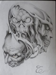 Our Website is the greatest collection of tattoos designs and artists. Find Inspirations for your next Skull Tattoo. Search for more Tattoos. Flesh Tattoo, Evil Skull Tattoo, Evil Tattoos, Demon Tattoo, Skull Tattoo Design, Tattoo Design Drawings, Skull Tattoos, Tattoo Sketches, Body Art Tattoos