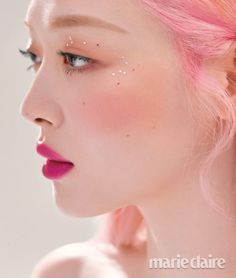 Sulli for Marie Claire magazine July 2019 issue. Sulli Choi, Choi Jin, Ulzzang, Korean Actresses, Victoria, Marie Claire, Pink Hair, Makeup Inspiration, Kpop Girls