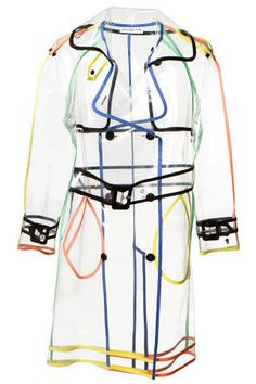 Clear trench! Wanda Nylon Transparent Trench Coat, $1,079; montaignemarket.com