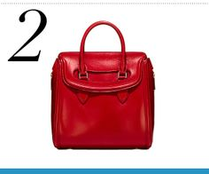 Weekender: Alexander McQueen medium Heroine bag in red high-shine leather
