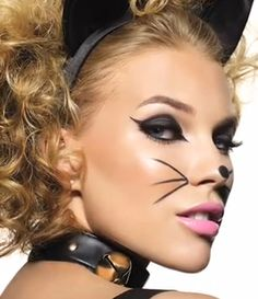 Halloween How To: The super cute, but oh-so sexy, playful kitten - Makeup   PRIMPED