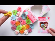 How to Make SQUISHY Conversation Candy Hearts + Packaging! DIY Homemade Squishy Tutorial - YouTube