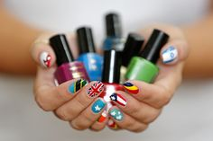 Glam and patriotic nails for #london2012! #nails #beauty