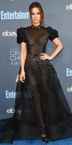 All the Glam Red Carpet Looks from the Critics' Choice Awards - Kate Beckinsale from InStyle.com