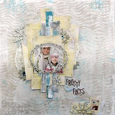 Frosty Faces scrapbook page by Tracee Provis for BoBunny featuring the Altitude Collection. #BoBunny @fluffyasever