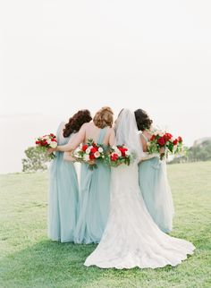 Having your besties by your side is the best! http://www.stylemepretty.com/2017/04/14/romantic-french-inspired-garden-wedding/# Photography: Koman - http://komanphotography.com/