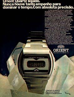 Relógio Orient #Brasil #anos70 #retro #anunciosAntigos #vintageAds