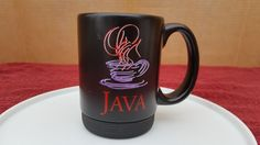 Sun Microsystems Black Java Coffee Mug Software Cup
