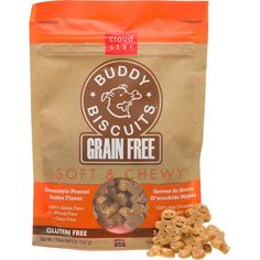 Cloud+Star+Buddy+Biscuits+Grain+Free+Soft+&+Chewy+Peanut+Butter+Dog+Treats+-+Dogs+on+a+grain+free+diet+crave+delicious+treats,+too.+These+scrumptious+little+morsels+are+100%+grain+free/gluten+free,+yet+are+packed+w/mouthwatering+flavor+&+a+chewy+texture+your+dog+will+love. - http://www.petco.com/shop/en/petcostore/cloud-star-buddy-biscuits-grain-free-soft-and-chewy-peanut-butter-dog-treats