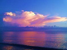 Cotton candy sky - Barefoot Beach, FL.