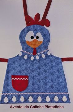 Gallina - My site Sewing Aprons, Sewing Clothes, Sewing Crafts, Sewing Projects, Chicken Crafts, Childrens Aprons, Apron Designs, Cute Aprons, Kids Apron