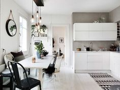 A Swedish city pad in monochrome and copper