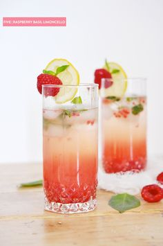 Raspberry Basil Limoncello Cocktail, anyone? | Photography: http://www.jacquelynclark.com/