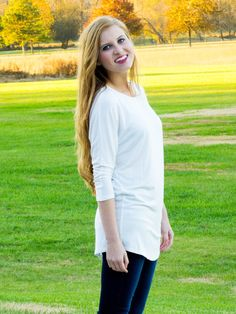 Layer Me Tunic. This is your basic ivory layering tunic.  You will want to wear it with everything! It's perfect for layering under your favorite fall sweater or cardigan.  It is just the right length and thickness.
