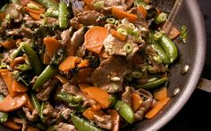 Five-Spice Pork Stir-Fry with Sweet Potatoes and Snap Peas Recipe - Chowhound