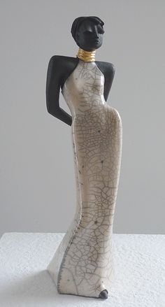 Sara - Raku Sculpture by Margit Hohenberger
