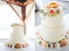 romantic floral wedding cake - Google Search