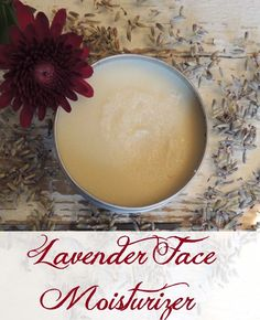 Lavender Face Moisturizer - Modern Hippie Housewife 2 Tbsp Shea Butter 1 Tbsp Coconut Oil 1 tsp Bees Wax ½ tsp Vitamin E oil drops, Lavender Essential Oil Natural Face Moisturizer, Facial Cleanser, Natural Skin, Natural Beauty, Homemade Moisturizer, Homemade Facials, Body Butter, Shea Butter, Diy Beauté
