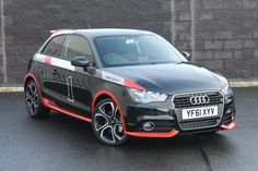 Audi A1 'with numbers on' is girl-speak for Audi A1 'competition line'.