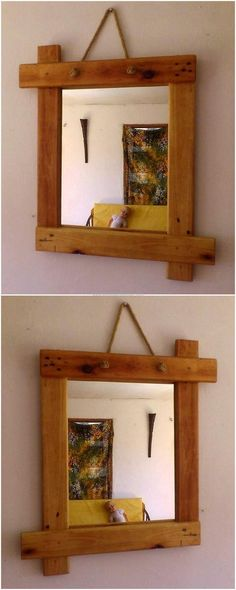 simple pallet mirror idea