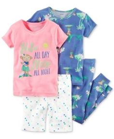 3a32526bb2 Carter s 4-Pc. Hula All Day Cotton Pajama Set