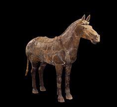Cavalry horse  鞍馬俑  Qin dynasty (221–206 BCE)   Terracotta