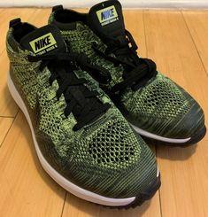 info for 19b96 ba037 Nike Flyknit Racer Golf Shoes Volt Black Sequoia Green G Size 8( 909756-700