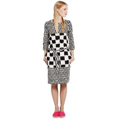 Marimekko: Teeri dress, off-white -black