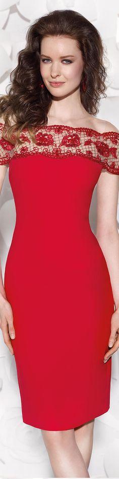 Tarik Ediz 2015. RUMBA! Love this shade of red.