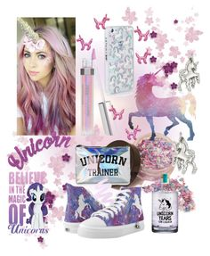 """""""Unicorns"""" by mandimwpink ❤ liked on Polyvore featuring Forever 21, Kate Spade, Winky Lux, Kevin Jewelers, Crown and Glory and unicorns"""