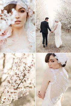 #wedding #dreamy #cherry #blossom #bride #lace