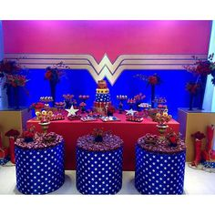 As you can see in today's post I want to share with all our readers the best ideas for decoration and organization for a Wonder Woman Theme Party. Wonder Woman Birthday Cake, Wonder Woman Party, Princess Birthday, Girl Birthday, Birthday Decorations, Birthday Party Themes, Girl Superhero Party, Party Kit, Party Ideas