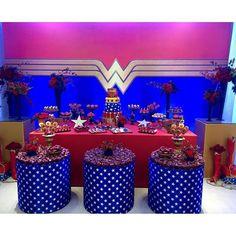 festa mulher maravilha mesa do bolo - Pesquisa Google