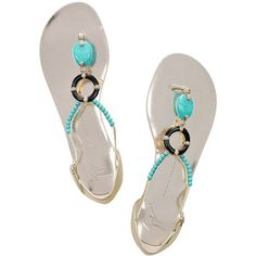 Giuseppe Zanotti Resin and bead-embellished leather sandals